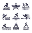 sport labels set for fighting club karate and vector image