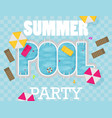 summer pool flat design style vector image vector image