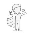 superhero young man cartoon vector image