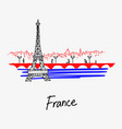 symbol of the eiffel tower france vector image vector image