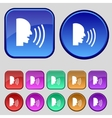 Talking Flat modern web icon Set colour button vector image vector image