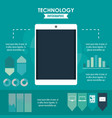 tehnology infographic concept vector image vector image
