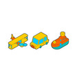 toy transport cartoon style set car and plane vector image vector image