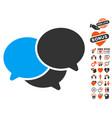 webinar icon with love bonus vector image vector image