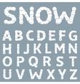 White Snowy alphabet vector image vector image