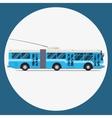trolleybus icon flat design city vector image