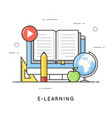 e-learning online education distance trainings vector image