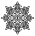 Indian ethnic round ornament Mandala Hand drawn vector image