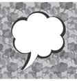 Creative message bubble design vector image