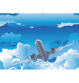 Airplane in the Sky6 vector image vector image