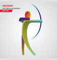 archery color sport icon vector image vector image