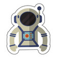 astronaut suit and helmet shadow vector image vector image