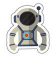 astronaut suit and helmet shadow vector image
