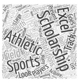 athletic college scholarship Word Cloud Concept vector image vector image