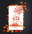 autumn background with heart shape maple leaves vector image vector image