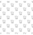 baboon pattern seamless vector image vector image