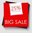 big sale banner template design red square vector image