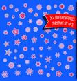 big set of geometric snowflakes snow background vector image