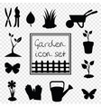 black silhouettes of garden icon vector image