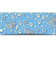 blue hanukkah background vector image vector image