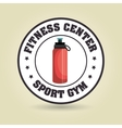 bottle sport gym vector image vector image