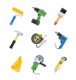 building tool icon set vector image vector image