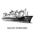 cargo ship reefer baltic forward vector image vector image
