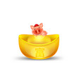 chinese new year 2019 pig cartoon moneygold vector image vector image