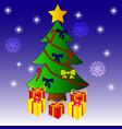 christmas tree graphics vector image