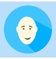 Color bald smiling flat icon man face vector image vector image