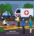 crime scene flat style vector image