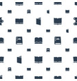 dictionary icons pattern seamless white background vector image vector image