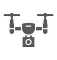 drone glyph icon electronic device quadcopter vector image vector image