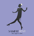 elegant flapper stylish woman wearing 20s style vector image vector image