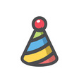 Festive stripy cap icon cartoon