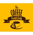 Fresh and tasty coffee banner vector image vector image