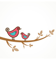 Funny birds on the strings vector image