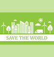 green ecological city vector image