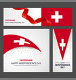 happy switzerland independence day banner and vector image