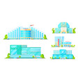hospital emergency and ambulance clinic buildings vector image
