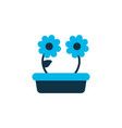 houseplant icon colored symbol premium quality vector image