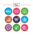 internet seo icons star shopping signs