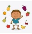 Kids nutrition design vector image