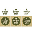 Lactose free lettering with drop dark vector image