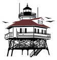 lighthouse drawing vector image vector image