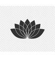 lotus flower lotus black icon isolated on vector image