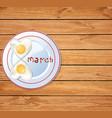 love food idea for 8 march breakfast vector image vector image