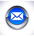 mail 3d button vector image vector image