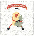New Year and Christmas print Funny sheep vector image vector image