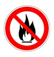 No fire sign 1103 vector image vector image